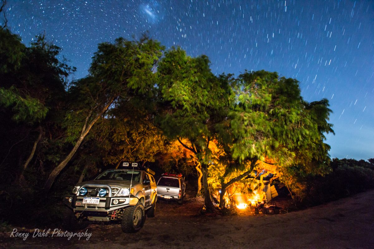 Sandy Peak hidden camp. Western Australia.