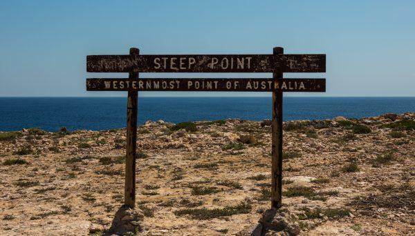 Steep Point Westernmost point of Australia.