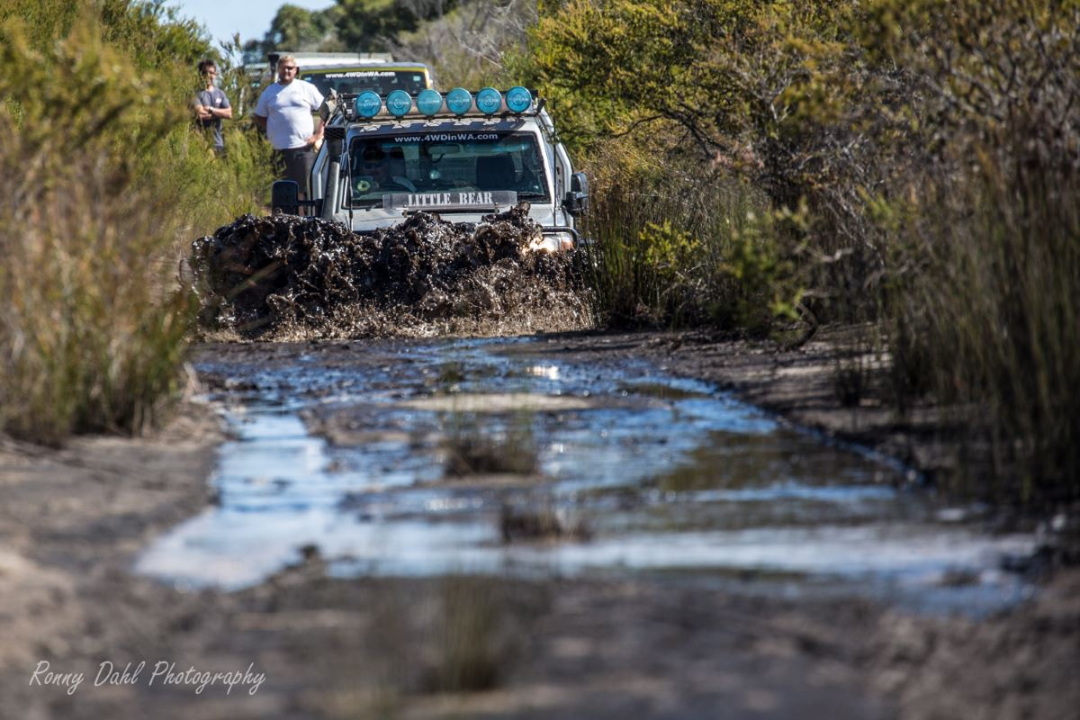 Toyota Land Cruiser, Modified 79 series single cab in the mud.