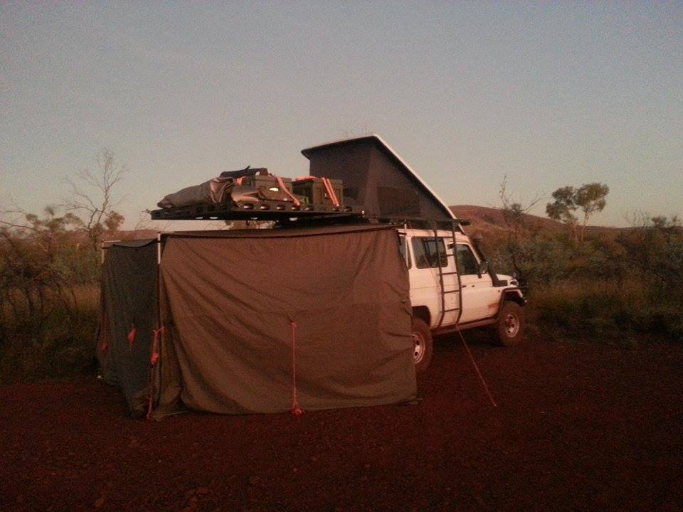 The Toyota Landcruiser Troopy outback camp.