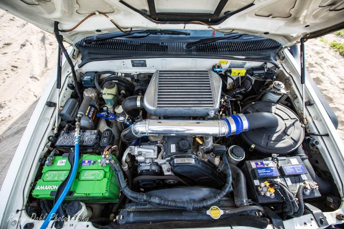 Modified Toyota Hilux engine.