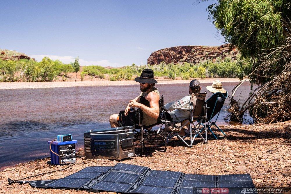 Ronny Dahl Camping at the river.