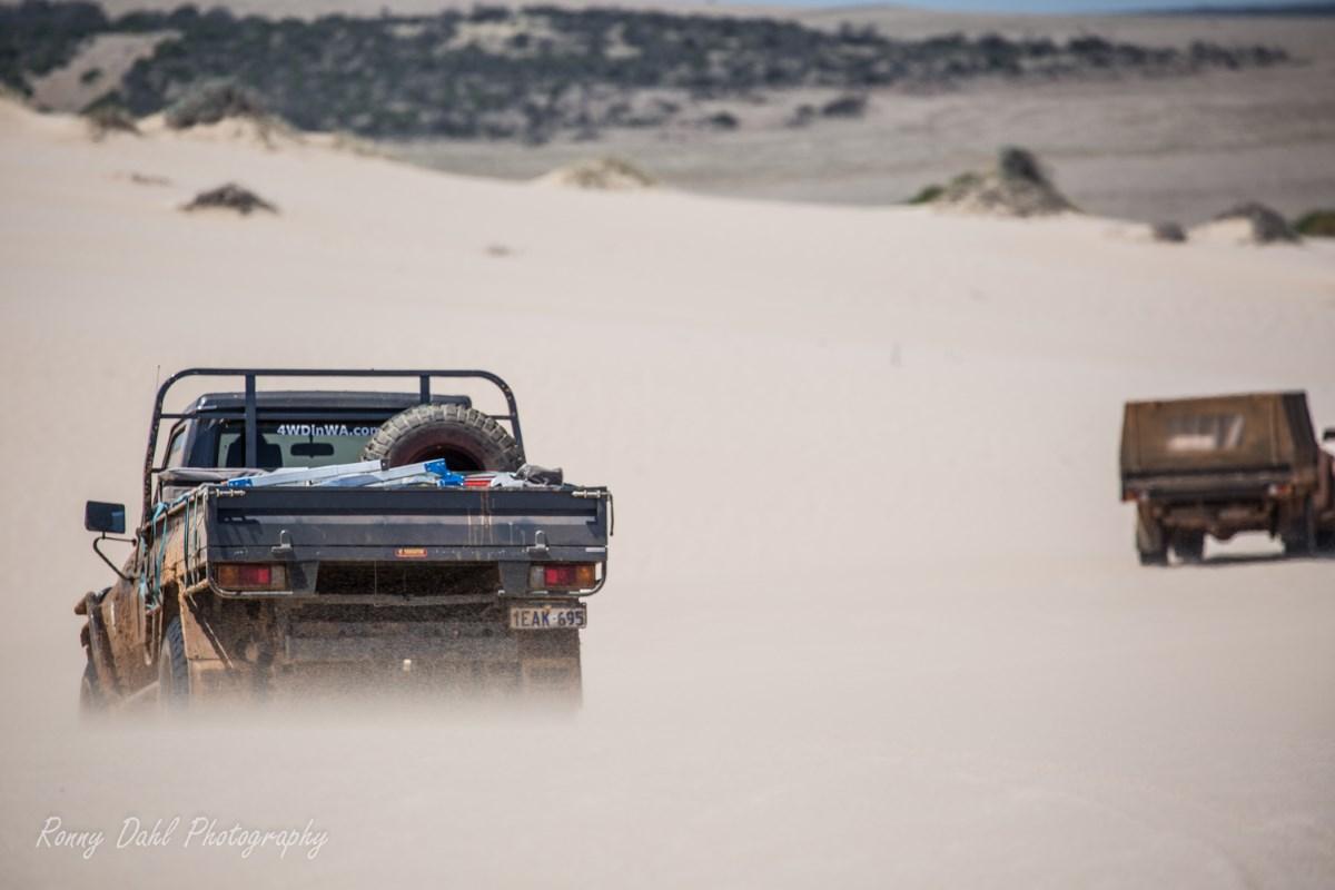 4 Wheeling in the sand dunes.